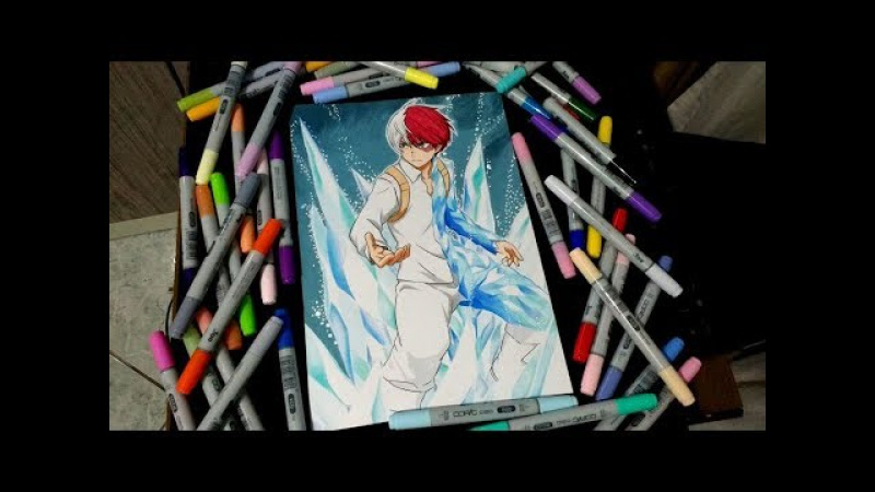 Speed Drawing Todoroki Shoto (Boku No Hero Academia)
