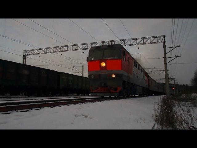 ТЭП70 с пригородным следует на Екатеринбург, ст. Аппаратная СВРД