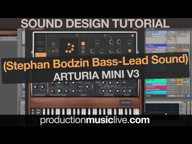 Stephan Bodzin Moog Bass Lead Sound with Arturia Mini V3 (Sound Design Tutorial) » Freewka.com - Смотреть онлайн в хорощем качестве