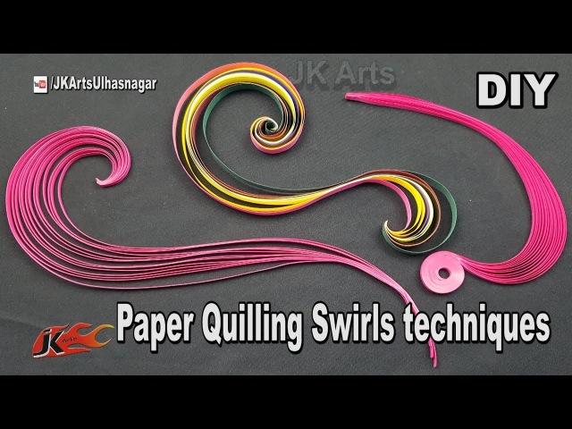 Paper Quilling Swirls Tutorial | JK Arts 1277