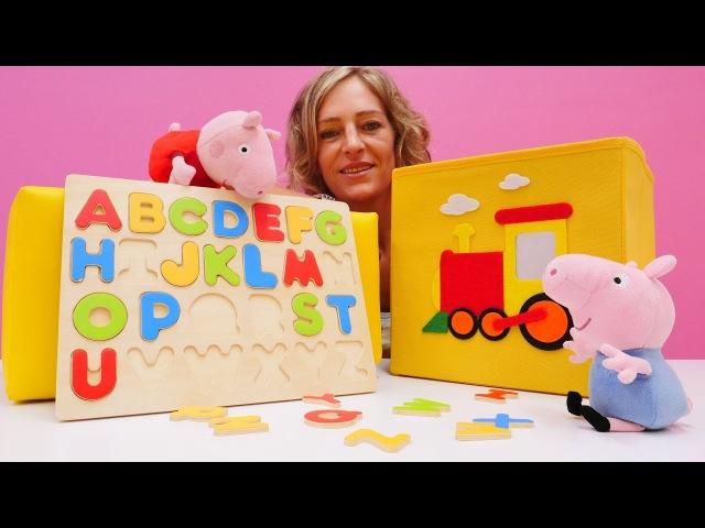 Die Wunderbox Spielspaß mit Peppa und Schorsch Wir lernen die Buchstaben