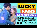 [K-POP] IDOLS - LUCKY FANS FAN SERVICE (exo, gfriend, BTS, Twice, Got7, etc.)