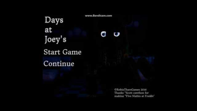 (FNAF FANGAME) Days at Joey's - Menu preview