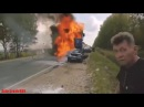 ДТП сгорел заживо, полная версия Жесть авария