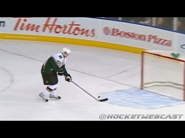 Patrik Stefan Misses Empty Net 2007 Full Sequence HQ Dual Feed