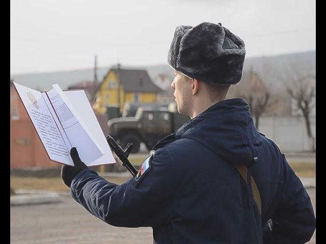 Новобранцы 171 отдельного десантно-штурмового батальона приняли присягу