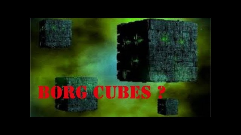 BORG CUBE SHAPED UFOS - AND A DISC HIDING IN PLAIN SIGHT