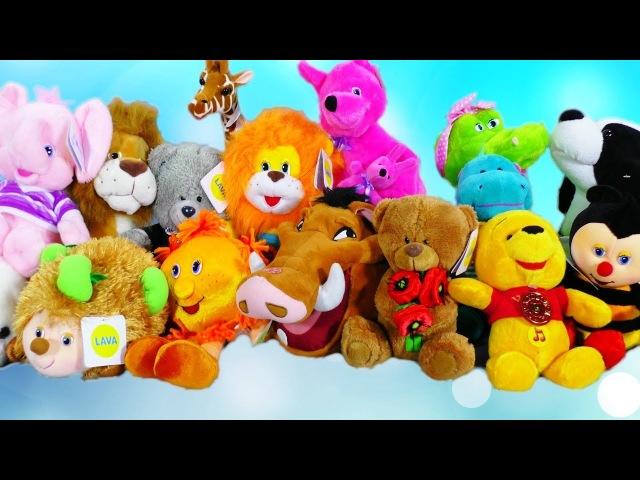 Забавные мягкие говорящие игрушки и поющие мультгерои