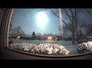 Метеор в небе над США в районе Великих озер Meteor explodes over Detroit Chicago area 16 01 2018
