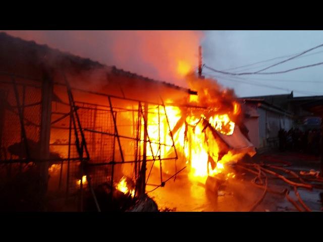 Большой пожар на Анголенко 2