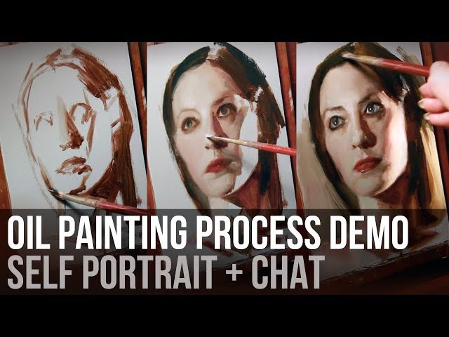 Oil Painting Process | Self Portrait Demo Chat