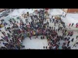 Мамадыш Sunny Fest (Фестиваль Креативных Санок в г.Мамадыш) (сьемка с квадрокоптера)