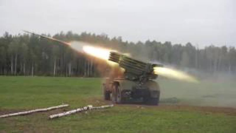 Пуск БМ-21,ГРАД