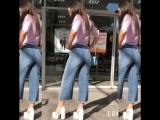 Кюлоты с лампасами из джинсы