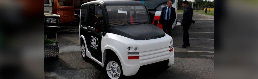В России создали электрический ситикар с четырьмя мотор-колесами