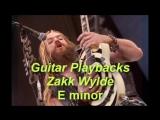 Backing Track in E Minor Style Zakk Wylde