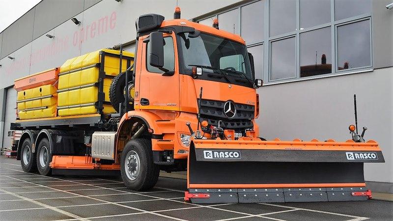 RASCO MSP (аналог HENDERSON MSP) - диагональный снежный отвал 810-930 кг, ширина 2,7-4,0 м