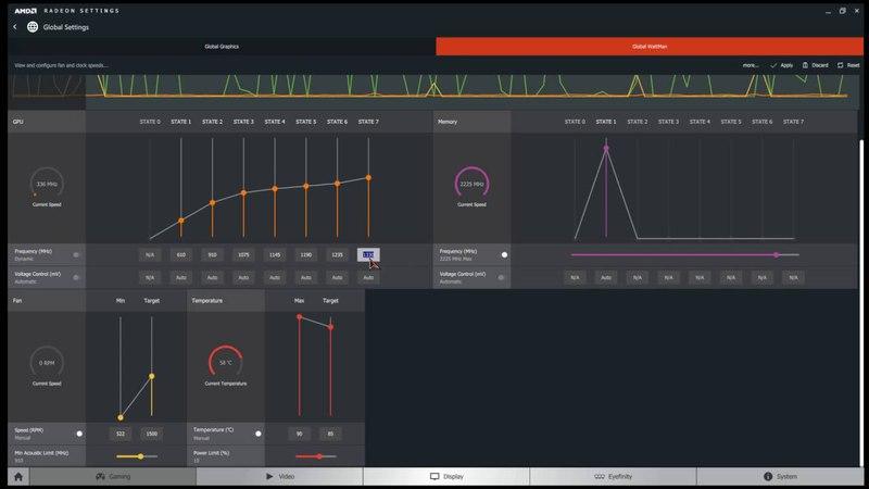 RX 480 MSI Gaming X быстрый разгон