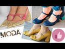 Moda en Zapatos de Tacón Grueso Bajo Cómodos y Elegantes 2018 Tendencia Mujer Spring Summer