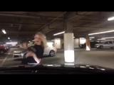 Вера Брежнева танцует на парковке