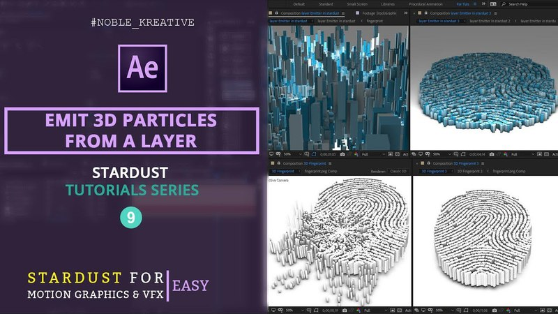 Emit 3D Particles from a layer in AE | Easy