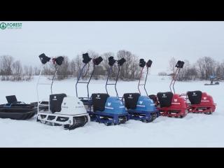 Тест-драйв мотобуксировщиков Помор
