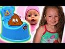 Учимся ходить на горшок Беби Борн Макс и Принцесса Полина Baby Born Princess Polina