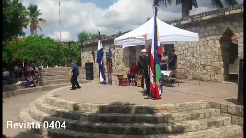 Presentación en parque central de Las Ruinas de Copán