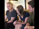 ANNA TORV ♡ Jonathan Groff Holt McCallany to a private viewing of TVline's The Groff Glare compilation video