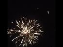 Красочное завершение празднования семейного праздника в Крыму вблизи Алушта и Ялта Утес Санта Барбара