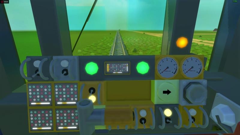Метровагон 81-717 в Scrap Mechanic демонстрация работы систем в том числе РКСУ