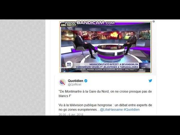 Yann Barthès est très choqué que télévision hongroise dise la vérité