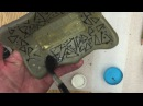 How to make slab Inlay slab plates Part 2 Pottery I Faux Mishima/ Inlay
