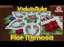 Flor mimosa em crochê (Centro de mesa abacaxi)