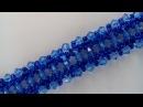 Браслет из бисера, биконусов и твина. Мастер-класс. Braclet of beads