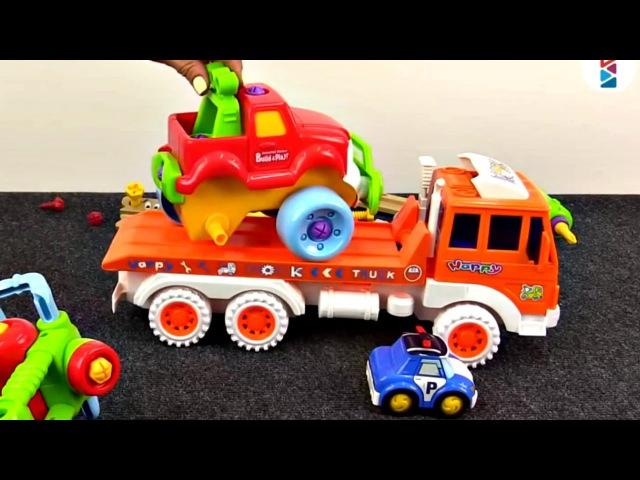 Robocar Poli et le SUV en panne. Vidéo éducative pour enfants