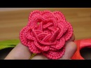 Как связать объёмную РОЗУ крючком crochet flowers the roses