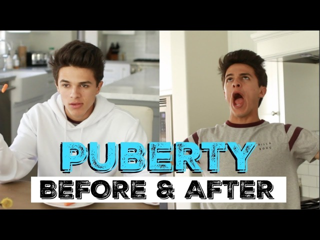 PUBERTY: BEFORE AFTER | Brent Rivera