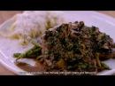 Телятина Марсала с зеленой фасолью и фетучини