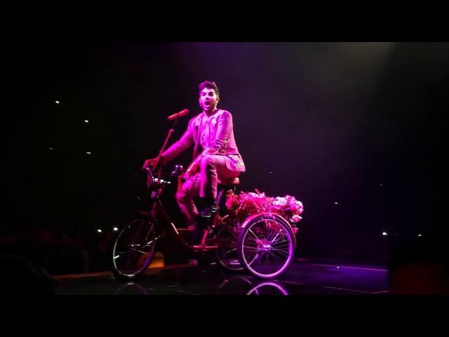 QUEEN Adam Lambert - Dont Stop me Now, Bicycle Race, Sheffield, 8.12.2017