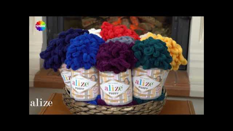 Alize Puffy ile bere ve boyunluk yapımı MAKING COWL AND BERET WITH ALİZE PUFFY