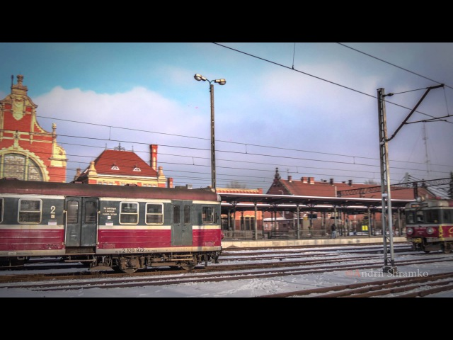 Opole Poland Timelapse (Railway station, bridges, river Odra)
