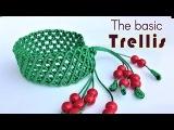 Macrame bracelet tutorial- The basic trellis pattern - Simple but pretty idea craft