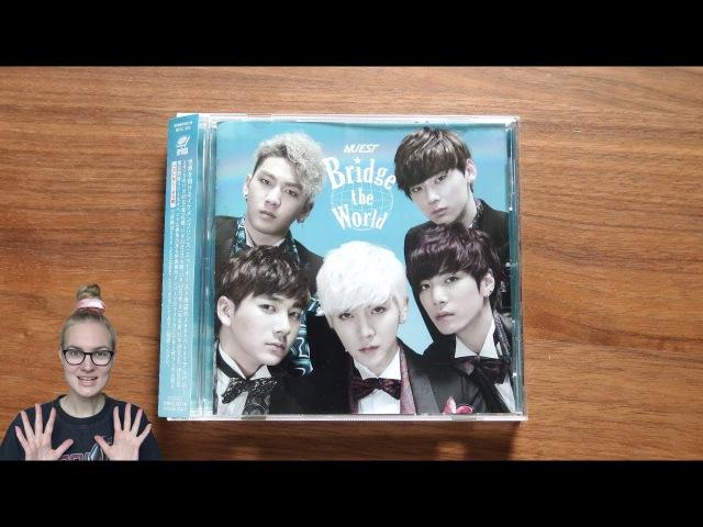 Unboxing NU'EST 1st Japanese Studio Album Bridge the World [Normal Edition]