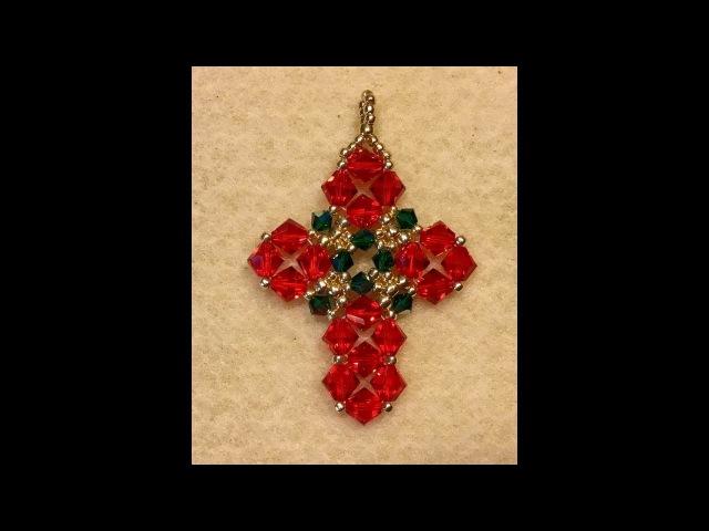 Christmas Cross Pendant Tutorial