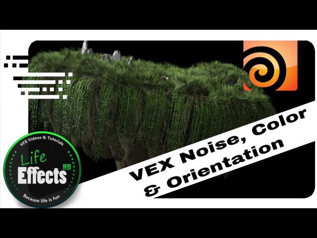 Houdini Noise, Color Ramps Orientation solved with VEX | Let's VFX8