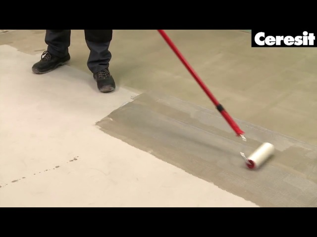 Подготовка поверхности стен и пола, грунтовка, видео инструкция выполнения работ с Ceresit CT17.