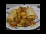 Старое блюдо Русских Немцев.Штрудели с картошкой и мясом