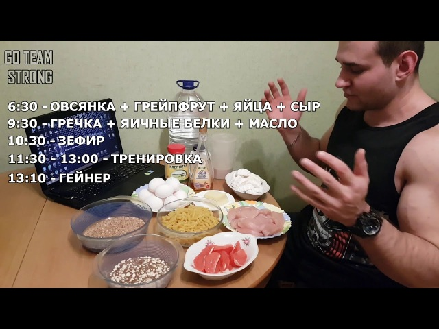 Гончаров Олег - Питание на массу. Набор мышечной массы. Трансформация 2018 год.