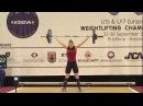 Women U17 63kg - 2017 EUROPEAN WEIGHTLIFTING CHAMPIONSHIPS U15 U17
